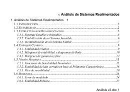 1. Análisis de Sistemas Realimentados