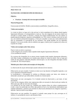PRÁCTICO 1-B MANEJO DEL ESTEREOSCOPIO DE BOLSILLO