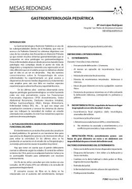 Gastroenterología Infantil - Sociedad de Pediatría de Atención