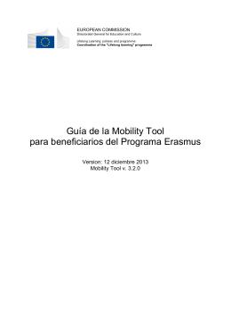 Guía de la Mobility Tool para beneficiarios del Programa