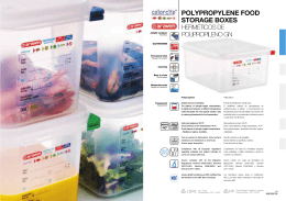 POLYPROPYLENE FOOD STORAGE BOXES