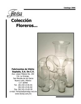 Colección Floreros