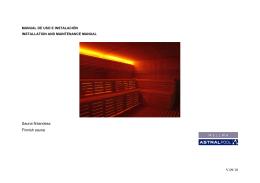 Manual Sauna Finlandesa INBECA