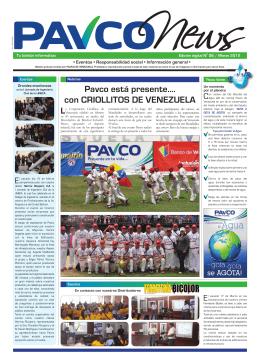 Pavco está presente…. con CRIOLLITOS DE VENEZUELA
