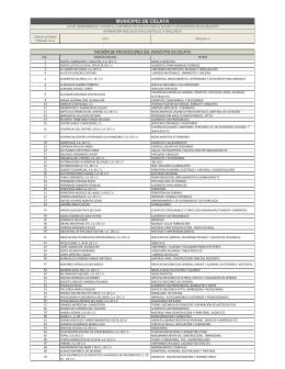 Relación de proveedores 2014