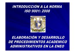 Introducción a a la norma ISO 9001:2008 - ENEO