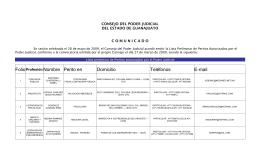 Folio Profesión Nombre Perito en Domicilio Teléfonos E-mail