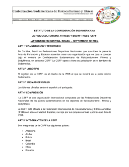 Categorias Convocadas para el 40to Campeonato