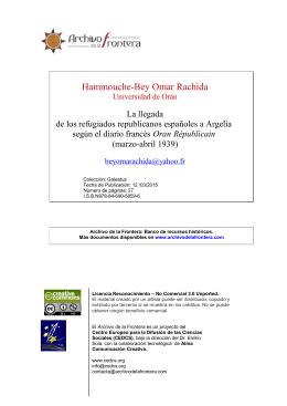 Rachida Bey Omar-exiliados españoles en Orán-2015