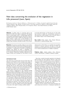 New data concerning the evolution of the vegetation in Lillo