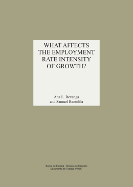 What affects the employment rate intensity of