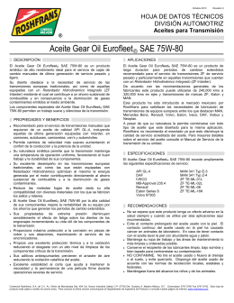 Aceite Gear Oil Eurofleet SAE 75W-80