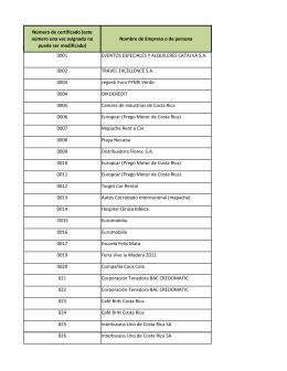 Listado de Convenistas