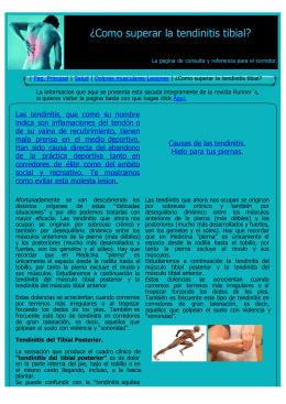 ¿Como superar la tendinitis tibial? - corredores