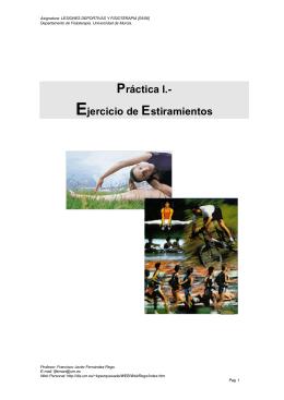 Práctica I - Estiramientos