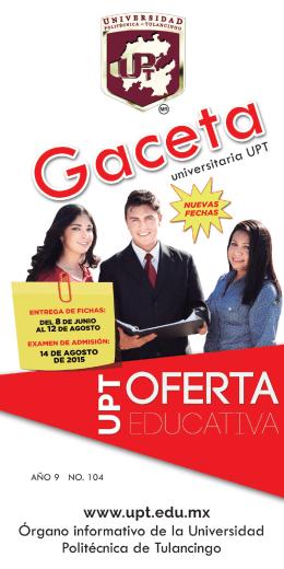 Abril - Universidad Politécnica de Tulancingo