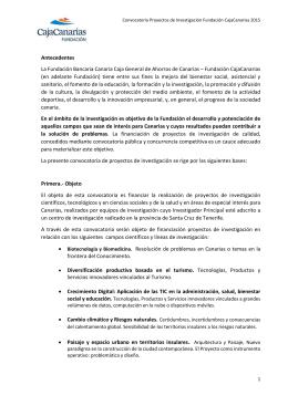 Antecedentes La Fundación Bancaria Canaria Caja General de