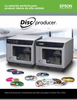La solución perfecta para producir discos de alta calidad.