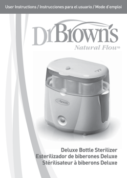 Deluxe Bottle Sterilizer Esterilizador de biberones Deluxe