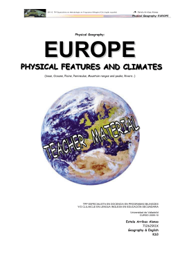 Physical Geography: EUROPE - CLILUVA-S1