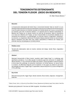 tenosinovitis estenosante del tendón flexor (dedo en