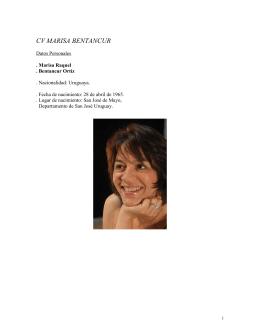 CV MARISA BENTANCUR - Intermedios Producciones