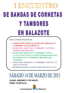 CARTEL I ENCUENTRO DE BANDAS CORNETAS Y TAMBORES