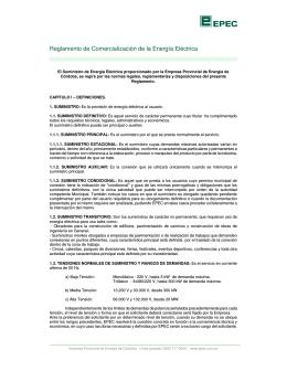 Reglamento de Comercialización de la Energía Eléctrica