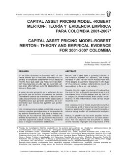 capital asset pricing model -robert merton