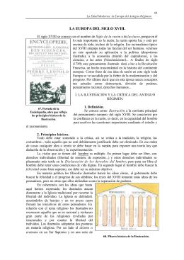 LA EUROPA DEL SIGLO XVIII.