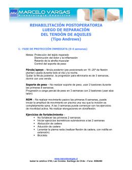rehabilitación postoperatoria tendon de aquiles