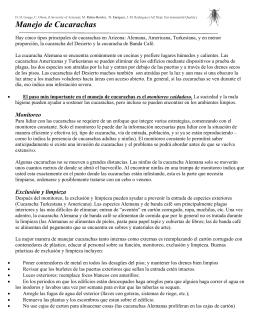Manejo de Cucarachas - University of Arizona