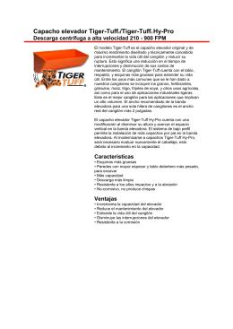 Capacho elevador Tiger-Tuff®/Tiger-Tuff® Hy-Pro