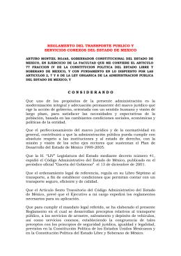 REGLAMENTO DEL TRANSPORTE PUBLICO Y