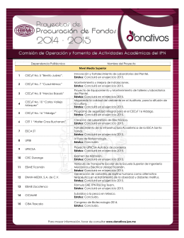 Consulta el Listado de Proyectos de Procuración de Fondos Vigentes.