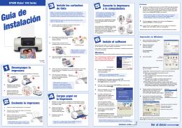 Instale los cartuchos de tinta Desempaque la impresora