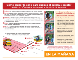 EN LA MAÑANA - NC School Bus Safety Web