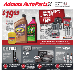SAVE - Advance Auto Parts