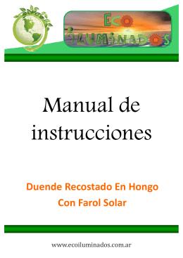 Duende Recostado En Hongo Con Farol Solar