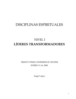 DISCIPLINAS ESPIRITUALES - iglesia cristiana restauracion