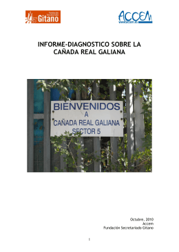 informe-diagnostico sobre la cañada real galiana
