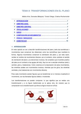 TEMA 8: TRANSFORMACIONES EN EL PLANO