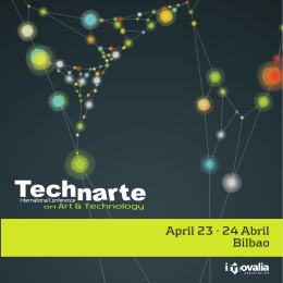 April 23 · 24 Abril Bilbao - Technarte | International Conference on