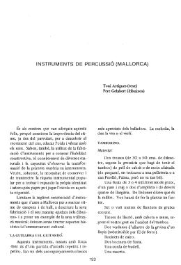 INSTRUMENTS DE PERCUSSIÓ (MALLORCA)