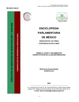ENCICLOPEDIA PARLAMENTARIA DE MÉXICO