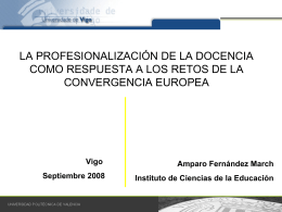 Diapositiva 1 - Vicerreitora de Organización académica e Profesorado