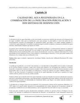 Capítulo 16 CALIDAD DEL AGUA REGENERADA EN LA