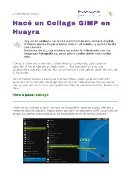 Hacé un Collage GIMP en Huayra