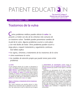Patient Education Pamphlet, SP088, Trastornos de la vulva