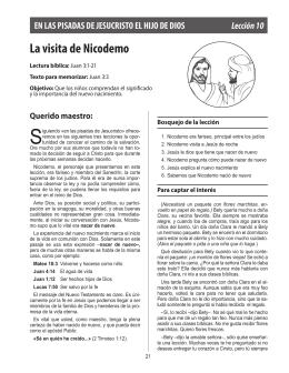 La visita de Nicodemo